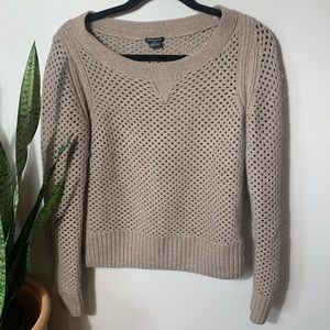 Charter Club Brown Knitted Sweater Sz M